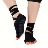 Yoga Socks Calcetines, Antiderrapantes Con Cintas Ballet