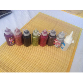 Kit Unico 7 Pinturas Para Tela Varios Colores Y Diamantina
