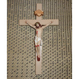 Crucifixo De Parede Gesso 28 Cm X 15 Cm