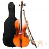 Klingt Ft-c-01 Cello 4/4 De Maple Con Funda Arco Y Brea