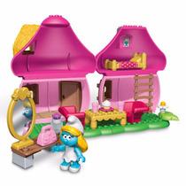 Brinquedo Microbloks Casa Cogumelo Da Mamãe Smurf 769