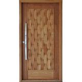 Porta De Madeira Maciça Mod. Couro 214x87 Completa