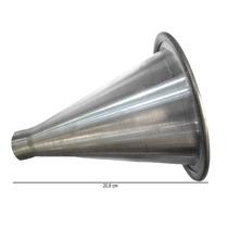 Expansor Corneta Cone De Alumínio Com Rosca Longo
