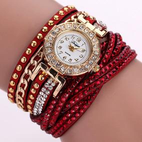Reloj Tipo Pulsera Moderno Original Piel Dama Envío Gratis