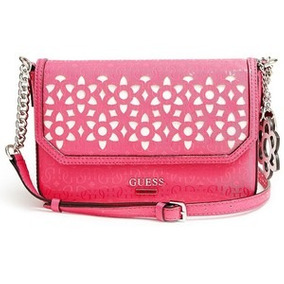 Guess Sp503521 Bianco Nero Flap Crossbody Pink