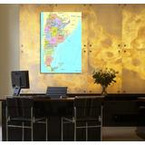 Cuadro Mapa Republica Argentina Patria Escuela Colegio 40x60