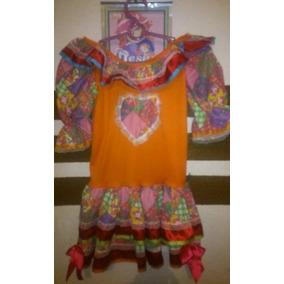 Lindo Vestido Festa Junina Caipira Infantil Colorido Tam 7 8