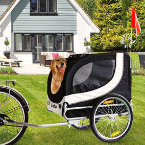 Plegable Negro Bicicleta Remolque Perro Bicicleta...