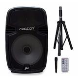 Bafle Fussion Pbs-9957 12pulg 9000w Luz Led Bluetooth Usb Sd