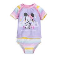 Minnie Mouse Traje De Baño De Dos Piezas Para Bebé Disney