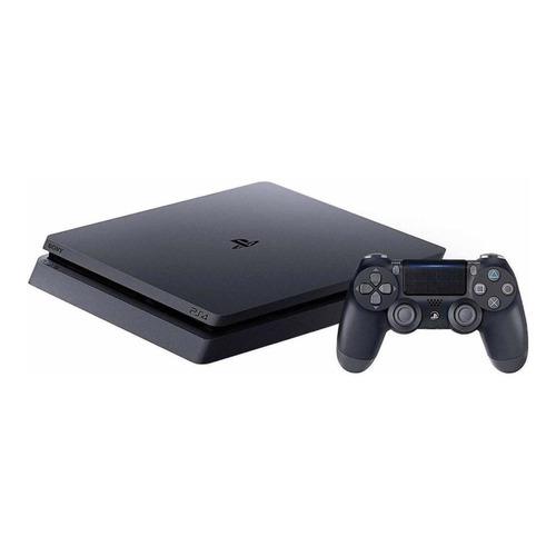 Sony PlayStation 4 Slim 1TB Mega Pack: Grand Theft Auto V Premium Edition/Days Gone/Horizon Zero Dawn Complete Edition/Fortnite color  negro azabache