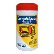 Compitt Wipes 45 Paños Prehumedecidos Limpieza Computacion