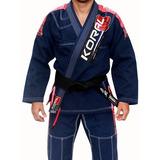 Kimono Jiu Jitsu Koral New Mkm Competition Azul Marinho