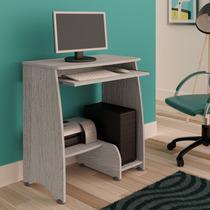 Mesa Para Computador Com 3 Prateleiras Pixel Artely Cinza
