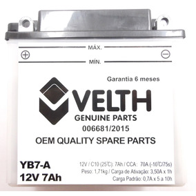 Bateria Velth Suzuki Yes125 Katana125 Intruder125 Yb7-a