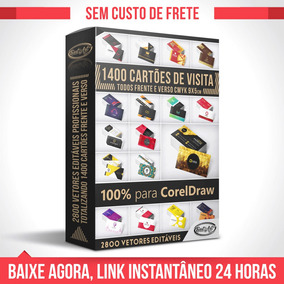 Vetores Para Corel Draw 1400 Cartões Visita + Vídeo + Bônus