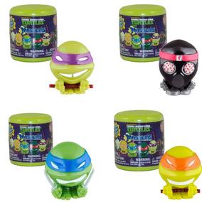 Coleção Com 4 Miniaturas Tartarugas Ninja Mashems - Dtc