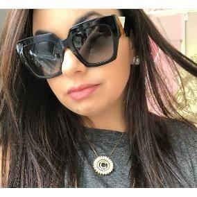 35ef050e1d9a4 Oculos De Sol Gatinho Quadrado - Calçados, Roupas e Bolsas no ...