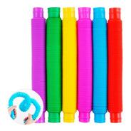 Pop Tubes Tubo Flups Sensorial Juguete X1 Colores Medianos