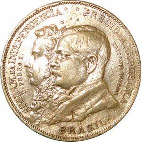 Moeda Prata 2000 Dois Mil Réis 1922 Comemorativa