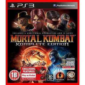 Mortal Kombat Komplete Edition Ps3 Código Psn Portugues Br