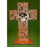Cruz Padre Nuestro 30 Cm Madera Comunión Regalo Souvenir