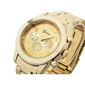 d40842e13a8 Pulseira De Aço Feminino Dourado - Joias e Relógios no Mercado Livre ...