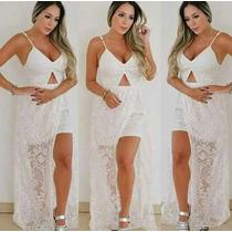 Vestido Em Renda Maravilhoso Tam Único M Branco