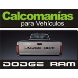 Calcomanias Dodge Ram Pickup Para Compuerta Trasera