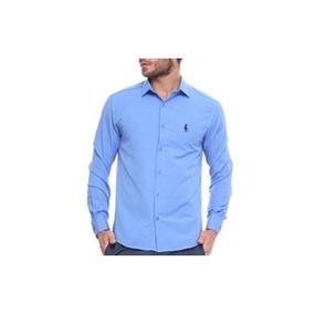 Camisa Club Polo Collection Social Out Azul Royal