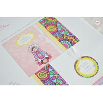 Pack Impreso Comunión Invitacion Plegada+estampa+troquel