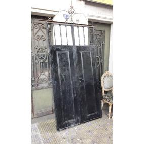 Fantástica Puerta Doble Hoja En Hierro. Cód.: #1586