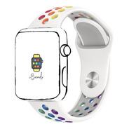 Pulseira Esportiva Furos Orgulho Apple Watch 42mm 44mm Sm