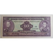 Billete Venezuela 10 Bs Junio 5 1995 P8 Unc