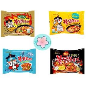 Paquete Ramen Picante Coreano (curry, Queso, Cool Y Pollo)