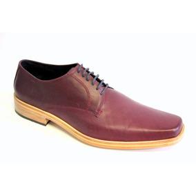 Zapatos De Vestir De Suela 100% Cuero 980 Bordó