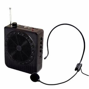 Megafone Microfone Para Professores Kit Amplificador De Voz