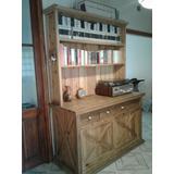 Mueble Aparador Biblioteca En Madera De Pinotea
