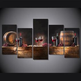 Quadro Decorativo Sala Cozinha Gourmet Vinho Wine - Grande
