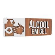 Placa Indicativa Sinalização Álcool Gel Higiene Proteção Mdf