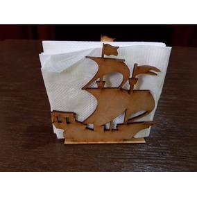Paquete 10 Servilletero Decorativo Barco Barquito En Mdf Dhl