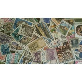 Lote Com 50 Selos Diferentes Da Itália