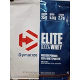 Whey Protein Refil Elite Dymatize 10lbs 4,5kg + Brindes