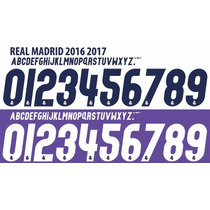 Tipografia Jersey Real Madrid 2016-2017 Local Visita Y 3era