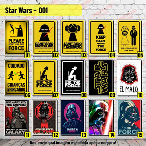 Placa Decorativa Darth Vader Star Wars Use The Force Geek