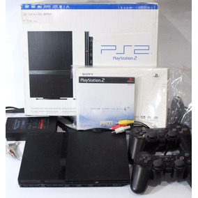 Console Playstation 2 +cabo Av +fonte +2 Controles