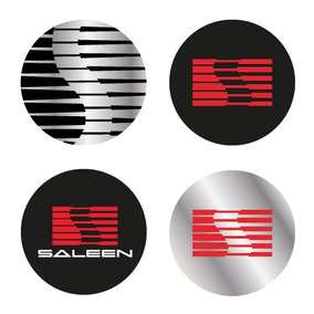 4 Emblemas Mustang Saleen Para Center Caps Centros De Rin