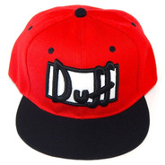 Gorra Duff Beer Homero Simpson Plana Bordada Ajustable Broch