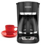 Cafetera Programable Black+decker 12 Tazas Con Filtro- C1061