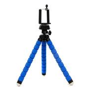 Tripode Pulpo 17cm Gopro Celular Con Cabezal Incluido Azul